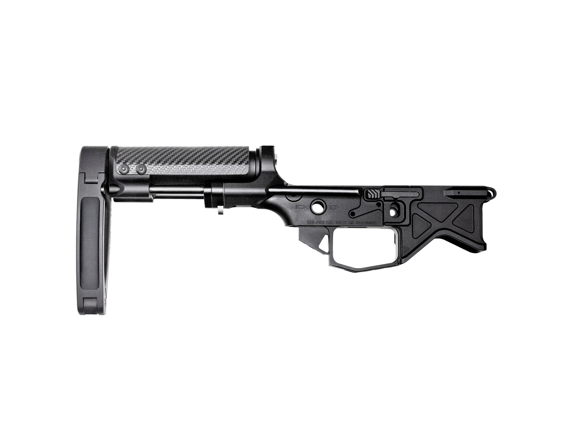 Monolithic PDW Lower Receiver + VERT® Pistol Brace with Tailhook MOD1