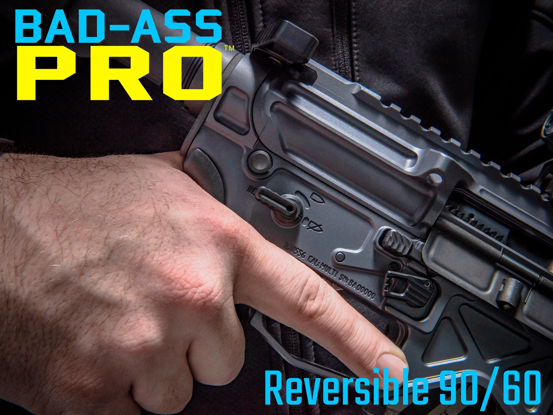 BAD-ASS-PRO Reversible 90/60 Ambidextrous Safety Selector