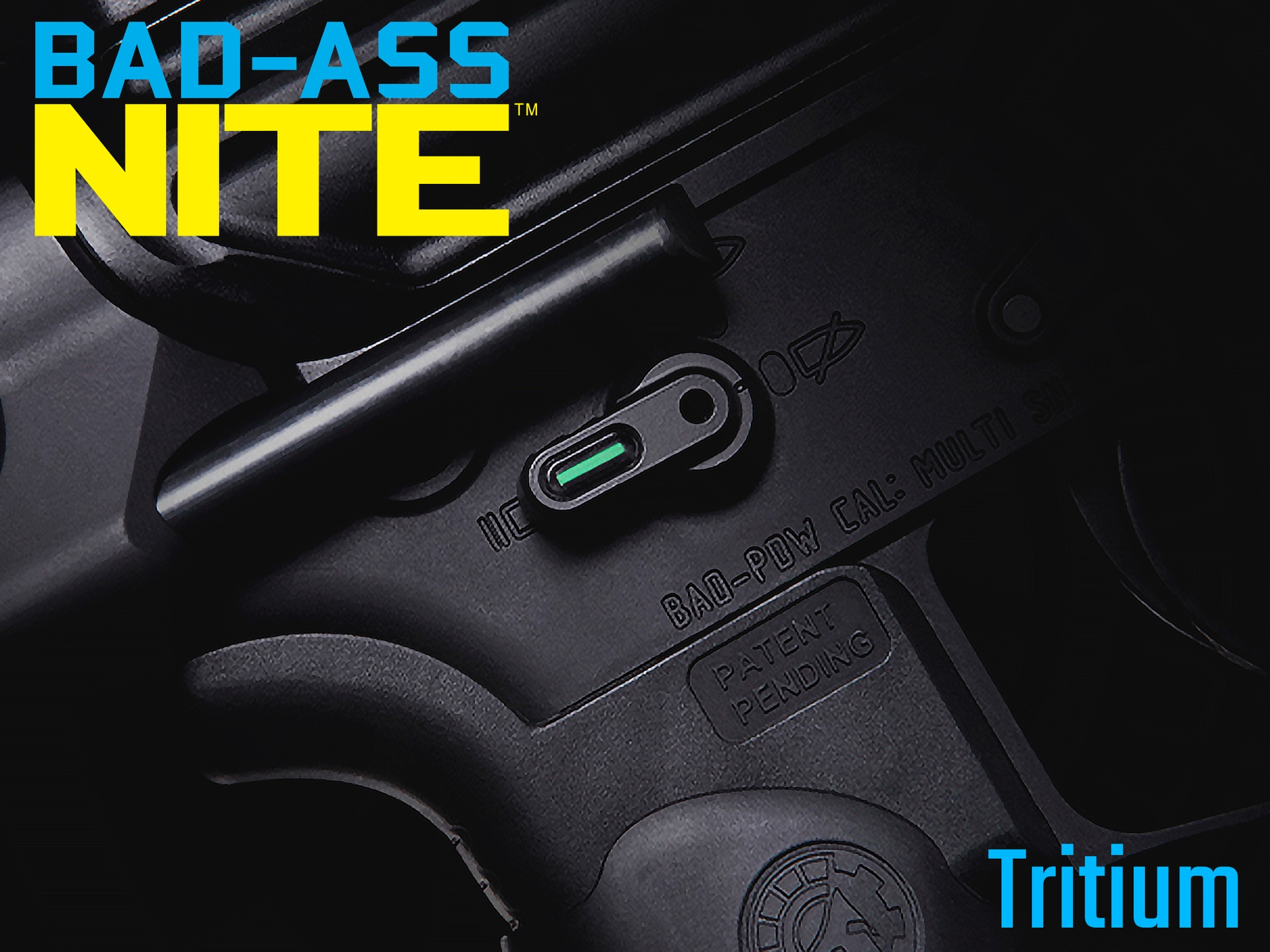 BAD-ASS Nite Ambidextrous Safety Selector - Tritium