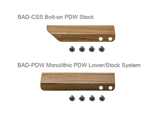 Simulated Wood Cheek Rest for BAD-CSS/PDW