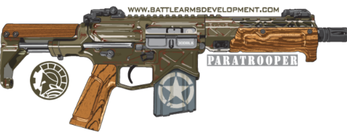 [Sticker-Paratrooper] Paratrooper Sticker 4in x 2in