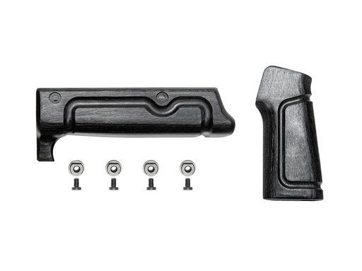 [BAD-WOOD-Kit-B] Black Laminate Wood 2 Piece Kit (Handguard and Grip)
