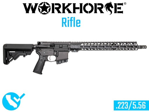 [WORKHORSE-017-CA] WORKHORSE® Rifle - Black Anodize - California Compliant